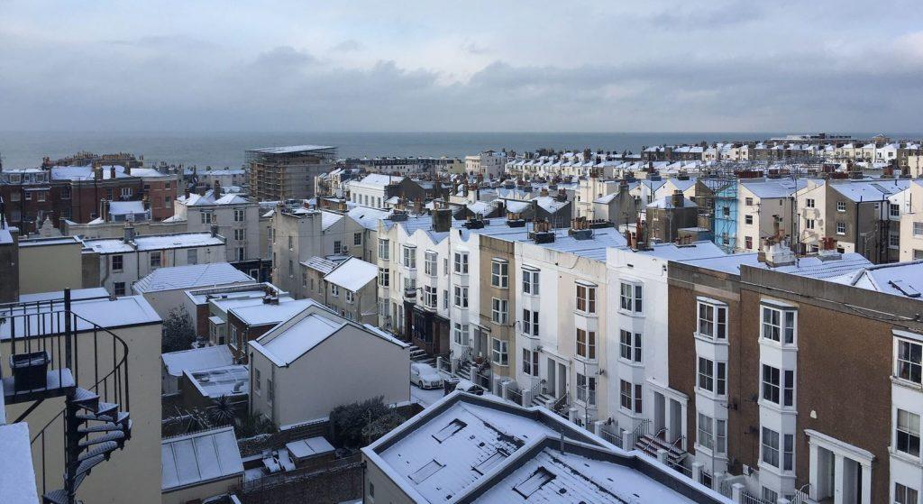 Neve em Brighton - Fevereiro de 2018